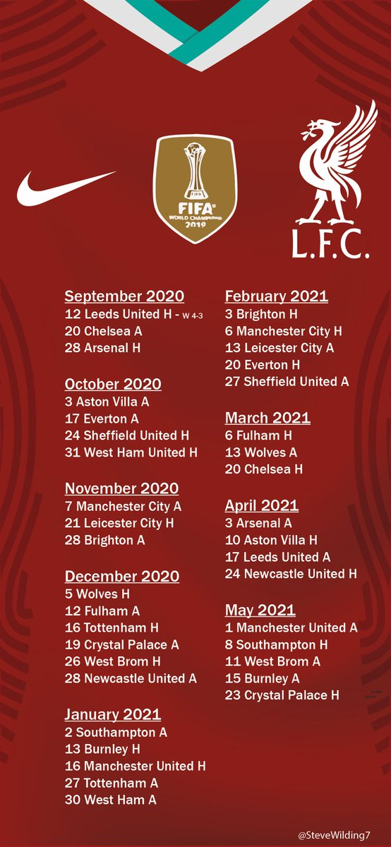 Download Liverpool Fixtures 2021