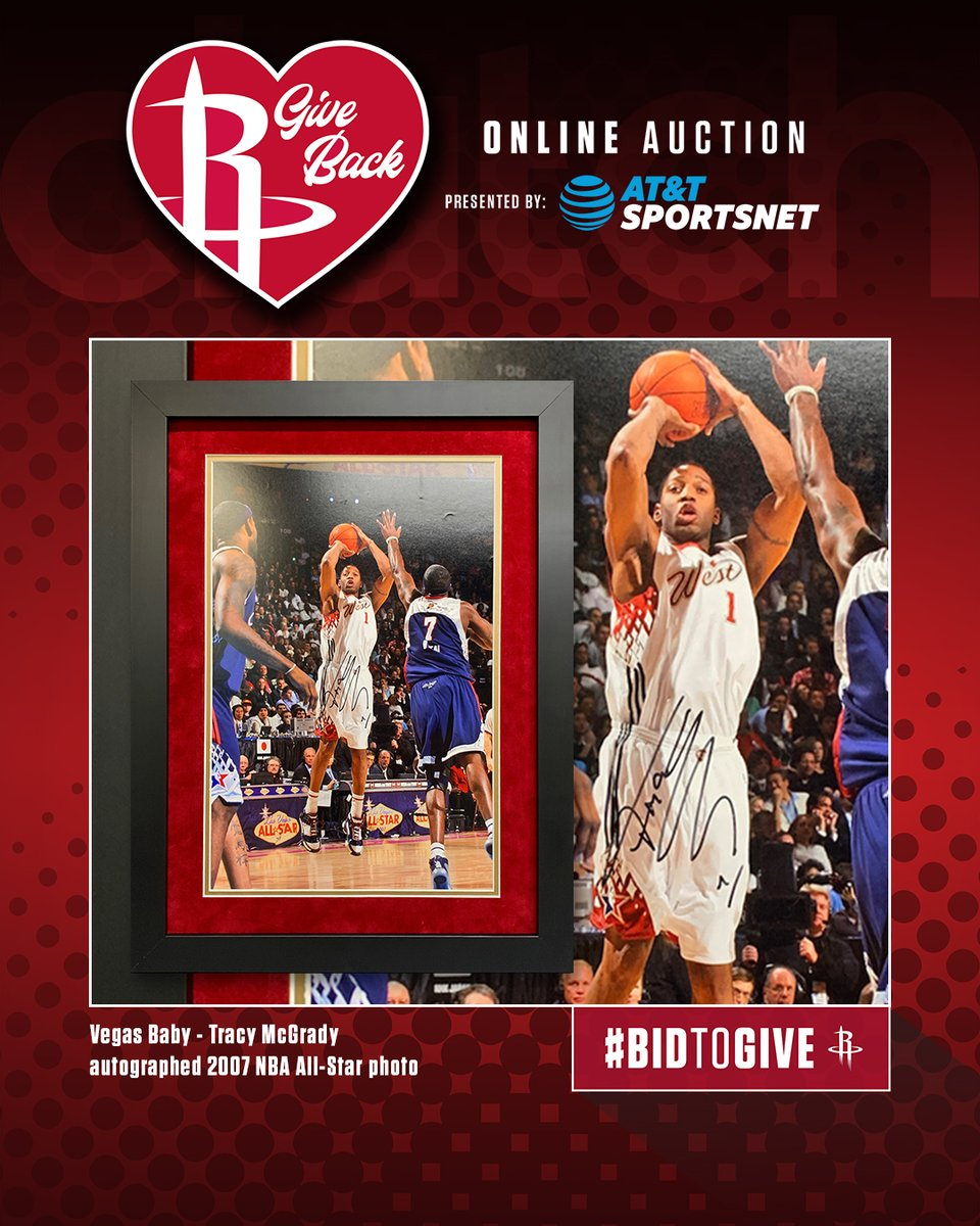 𝗥𝗼𝗰𝗸𝗲𝘁𝘀 𝗚𝗶𝘃𝗲 𝗕𝗮𝗰𝗸 𝗔𝘂𝗰𝘁𝗶𝗼𝗻 𝗜𝘁𝗲𝗺 𝗼𝗳 𝘁𝗵𝗲 𝗗𝗮𝘆 ⤵️  Tracy McGrady Autographed Framed 2007 Las Vegas NBA All-Star Photo  Bid Now in the Rockets App to support local COVID-19 relief efforts. https://t.co/LTWvKFFMcn