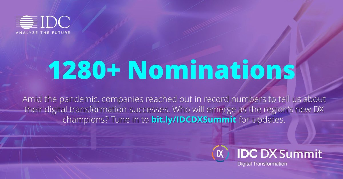 True champions never give up. Even in the middle of a pandemic, we received 1280+ nominations for #IDCDXa, the highest tally in the last four years! Make sure to tune in as we gear up to name our winners in the upcoming IDC DX Summit: https://t.co/gfto8gckC8 https://t.co/lVA5znvHrp
