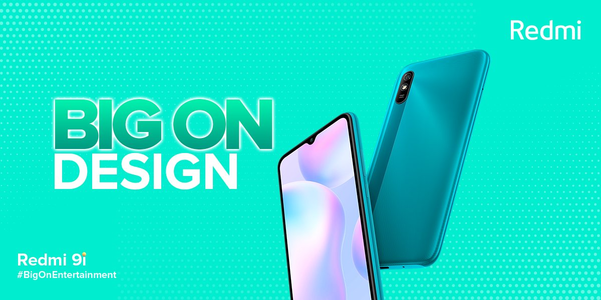#Redmi9i features our futuristic yet elegant #AuraDesign!  🍥 Aura 360 Design 💎 3D Unibody design  We guess the only other phone which would be as stunning as the Redmi 9i would be another #Redmi smartphone! 😉 #BigOnEntertainment #4GBClub https://t.co/w4nehMjiGa