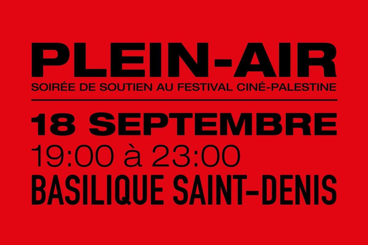 🗓 #Agenda • Rendez-vous à la soirée en plein-air du Festival Ciné Palestine, le 18 septembre – par @cinepalestine 🖋️ (En accès libre) ➡️  https://t.co/YhcQ394A3E https://t.co/SmX7Ezhxzn