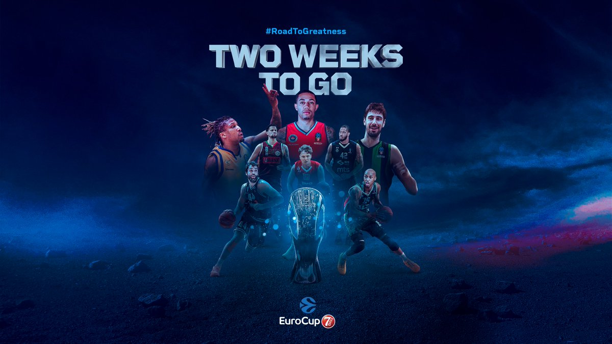 Two weeks left!!👏😱  Let us know how excited are you?!👇  #RoadToGreatness  #EUROLEAGUEUNITED https://t.co/aFaI8sAzCm #EuroCup