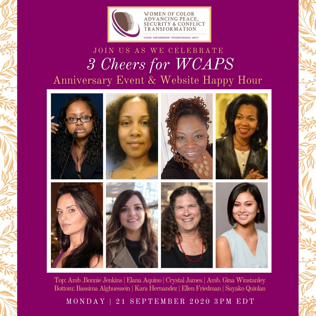 Join @WCAPSnet on September 21st at 3:00pm US EST for a #3CheersforWCAPS discussion with members of its leadership on the origins and activities of WCAPS. This will be followed by a tour of the new WCAPS website. Join us! You can register at https://t.co/gkhNIQXTne https://t.co/Ivx2Fe8LoJ
