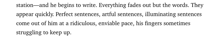 "This line––from the great Esquire profile of Roger Ebert––is how every writer dreams to be profiled. In my case: ""nothing fades out, every word takes a lifetime to appear. Horrid sentences, artless sentences come out of him at a tortured pace, his mind struggling to keep up"". https://t.co/UxiZj6dAsI"