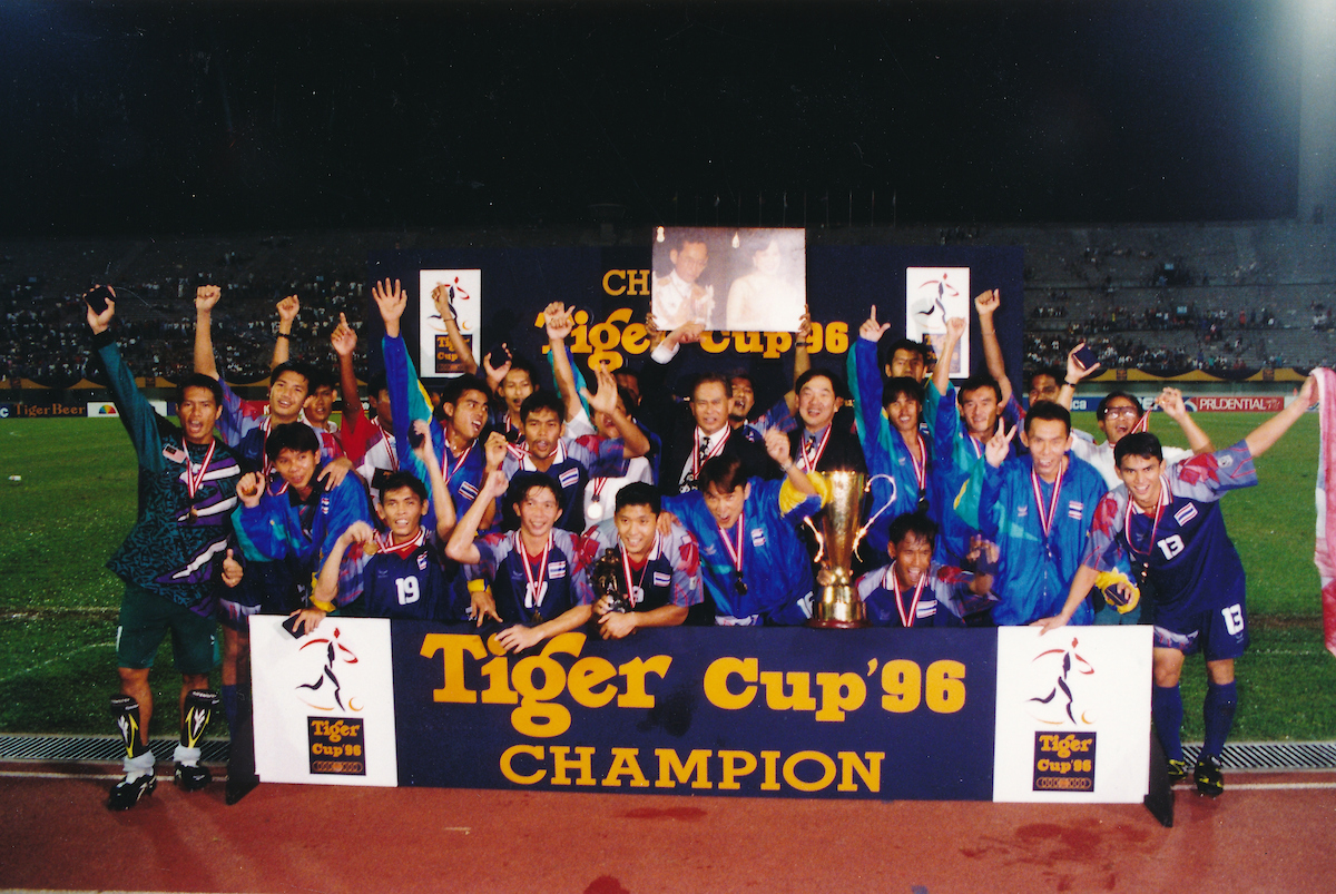 #OnThisDay 2️⃣4️⃣ years ago, @Changsuek_THwere crowned the champions of the first ever #AFFChampionship! 🇹🇭 🏆  Which year did you first watch the #AFFSuzukiCup? ⚽ https://t.co/7n91uQaqvo