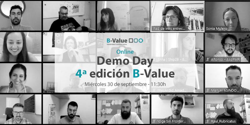 📢¿Ya tienes tu entrada para el Demo Day de #BValueTransforma? Los 11 proyectos finalistas están ultimando sus propuestas para demostrar que la transformación del tercer sector es posible.  Recuerda: 📆 30/09 🕛 11:30  🌏 Online 🎟https://t.co/XPGA01tehj https://t.co/qYSmO98dU4