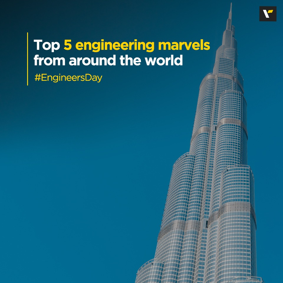 Today, on Engineer's Day, we bring to you the top 5 amazing engineering marvels from around the world, which you'll love, for sure.   Check the series here https://t.co/LsUhNJQcU2  #CelebrateEngineeringMarvels #CelebrateLife #VeenaWorld https://t.co/2gwyPMUWpP