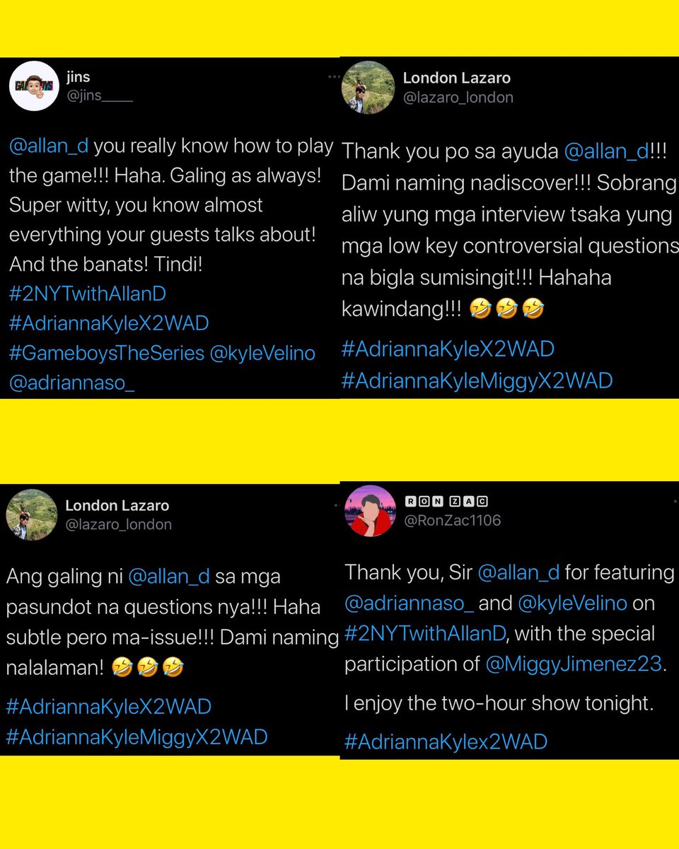 Thanks so much again for all your positive comments, guysh!! love love! 😘👍🏼♥️  #AdriannaKyleX2WAD  #2NYTwithAllanD 🌙 #2WAD https://t.co/v93gCJy8i8