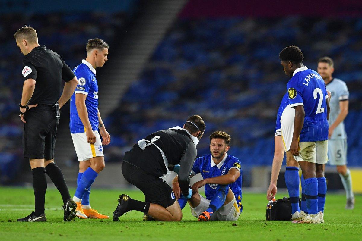 Brighton verliert gegen Chelsea mit 1:3 und Adam Lallana musste vor der Halbzeit verletzt vom Platz. 😟  Gute Besserung, Adam! https://t.co/P23wSoLGm1