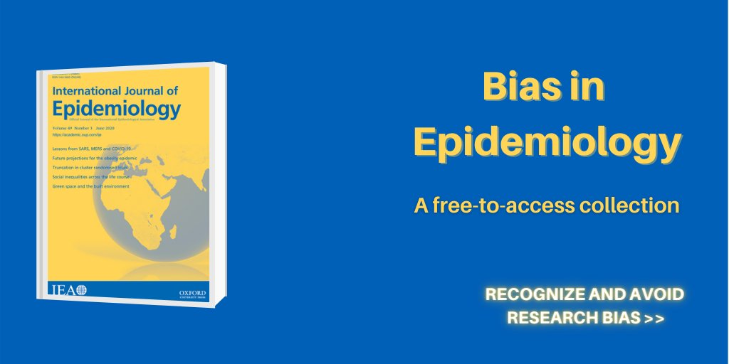 Avoid research bias with the @IJEeditorial's collection on Bias in Epidemiology, which features reflections on common types of systematic error as well as suggestions on how to avoid them. https://t.co/eJZB8QkW6U https://t.co/9H7PSCXGrn