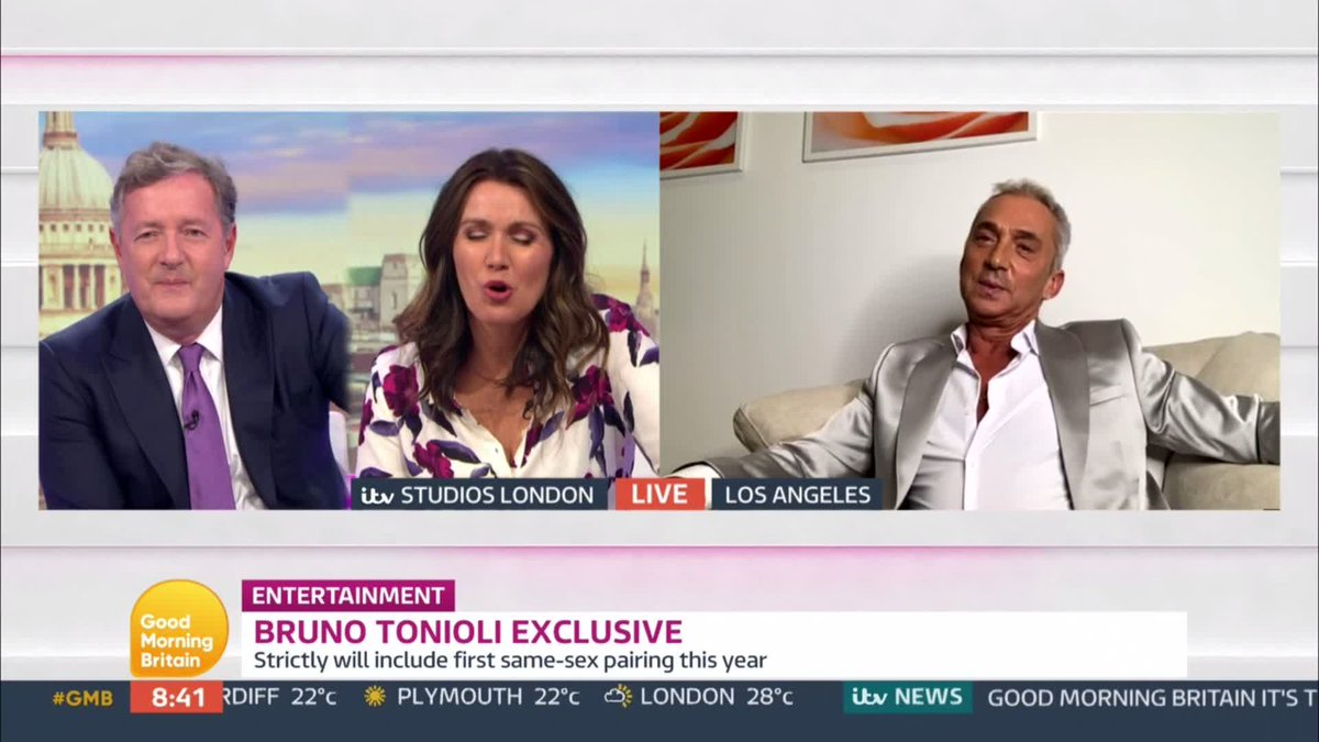 Will we see @Brunotonioli on Strictly this year?🕺 He might be living out in LA this year but he reveals he'll still be part of the show. He also tells @ranvir01 to watch out for @CraigRevHorwood 👀