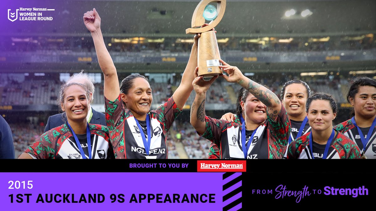 In 2015, the Kiwi Ferns and Australian Jillaroos competed at the Auckland 9s for the first time, in a three game series. 🙏  The Kiwi Ferns won the inaugural event, two games to one.   #StrengthToStrength  @HarveyNormanAU #WomenInLeague https://t.co/EJnxEihXzM