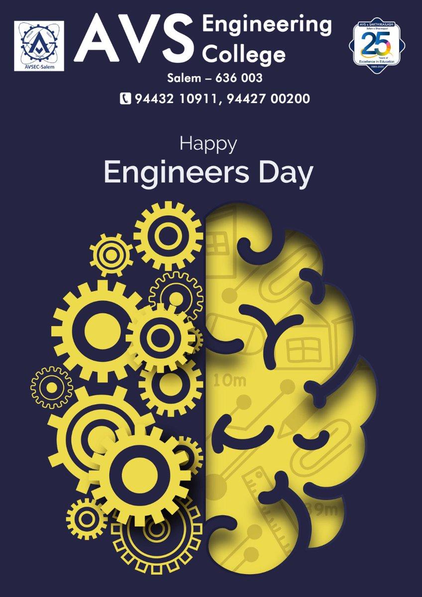 *AVS Engineering College* Creates Responsible Engineers   *Happy Engineers Day*   #Topengineeringcollege  #Engineersday #Top99thcollege  #Bestcollege  #Strongplacement #highestplacementrecord #avsec  #counsellingcode2636  #Studyengineering #studyatavsec  #salem https://t.co/flOY5lnOna