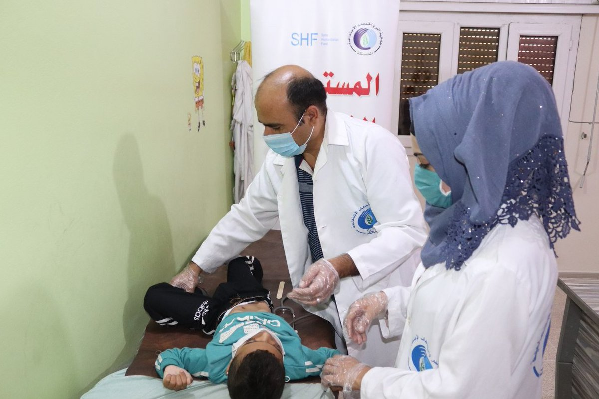 Hundreds of thousands of displaced people in #Syria struggle to access quality health care.   Thanks to generous #Syria Humanitarian Fund donors, our partner Al-Birr is giving thousands in northeast Syria the medical support they need.  More on the SHF 👇 https://t.co/vu7dSXRv2r https://t.co/lt7Ip571nM