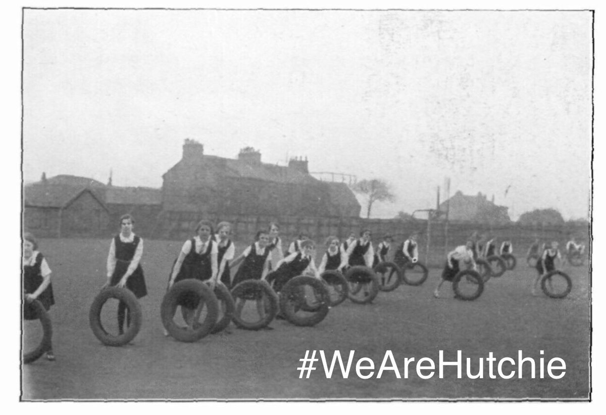 We are at 'S' for #Sport for #ArchiveZ.... something that has always been important @Hutchesons  in all its different forms! In 1936 this involved using old tyres! What sport did you do at school? #WeAreHutchie https://t.co/q4h2QlDMjr