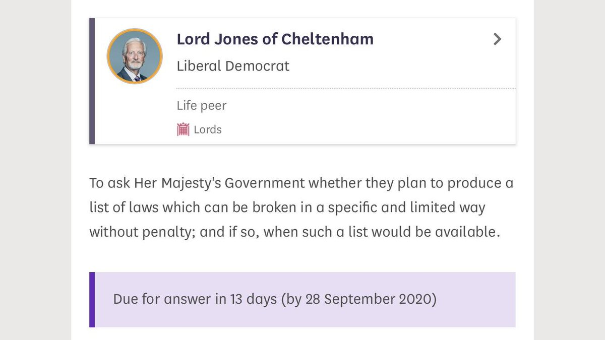 Lord Jones with a strong contender for PQ of the week?  https://t.co/uHNLVetWbb https://t.co/7B2hMrmvtz