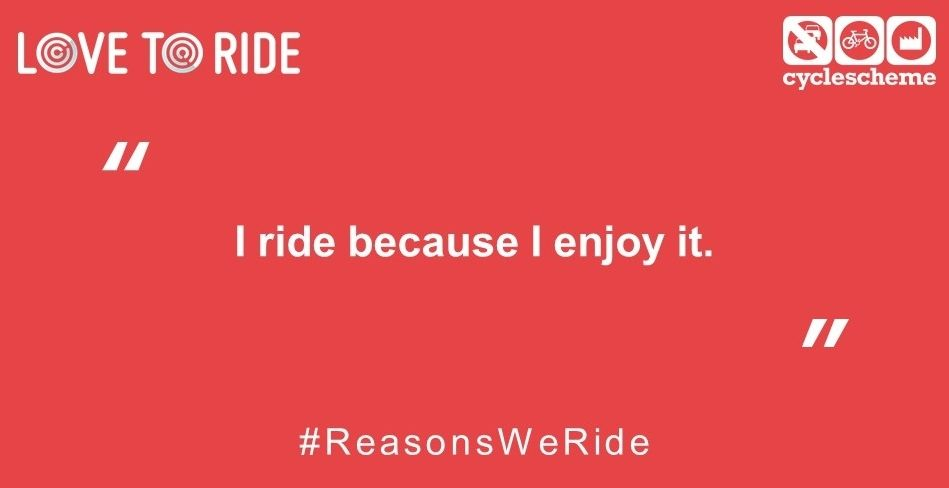 What's the reason you ride? Health, wealth, the environment or just because? Tell us at https://t.co/iSHOhV6Q7D #ReasonsWeRide https://t.co/8vOat3SvRU
