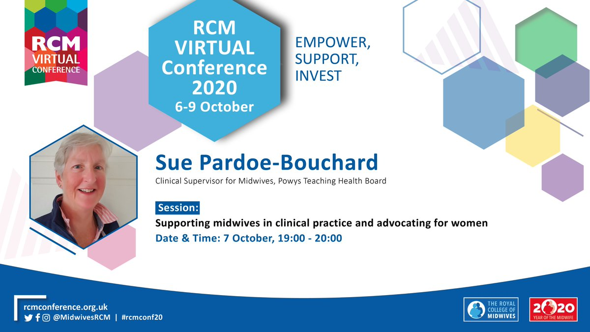 """*SPEAKER ANNOUNCEMENT* @suzybou is the Clinical Supervisor for Midwives, Powys Teaching Health Board. She will be joining the discussion on """"Supporting midwives in clinical practice and advocating for women"""" on 7 Oct at 19.00. Register to attend: https://t.co/5YylDBLyRq https://t.co/OlP6okhYwE"""