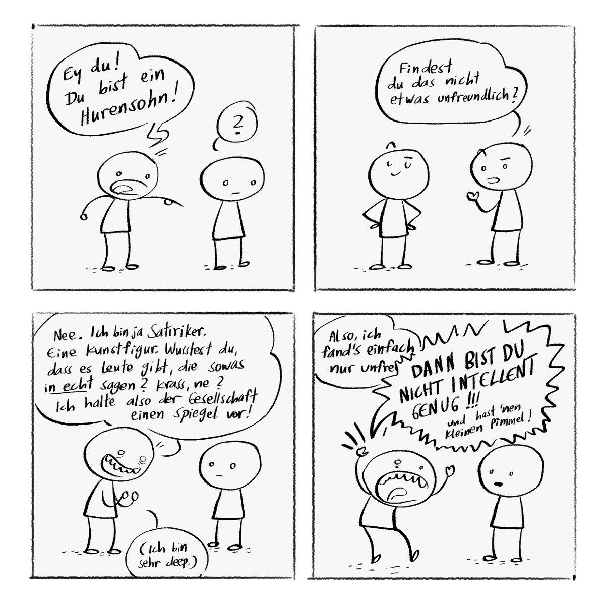 RT @JoLottIllu: Deutsche Satire 2020. Aus aktuellem Anlass. #Somuncu #Cancelculture #Satire https://t.co/URxVxDa19s
