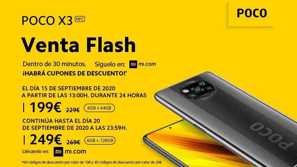 ¡Ey #MiFan! solo quedan 30 minutos para volver a liarla con la venta flash de #POCOX3 NFC  ¡Te espermos con nuestros expertos!  🥳  https://t.co/hxHeENwYwF https://t.co/qqYJx25hJW