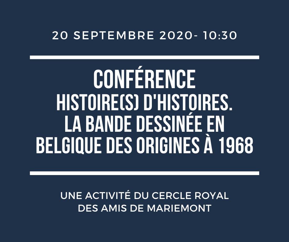 """Ce 20 septembre, les Amis de Mariemont vous proposent une conférence de Jean-pierre Abels, spécialiste de la #BD, intitulée """"Histoire(s) d'histoires. La bande dessinée en Belgique des origines à 1968"""".  📌 Réservation INDISPENSABLE 📌 Plus d'infos : https://t.co/FqkaMyEDID https://t.co/AmVud9LLok"""