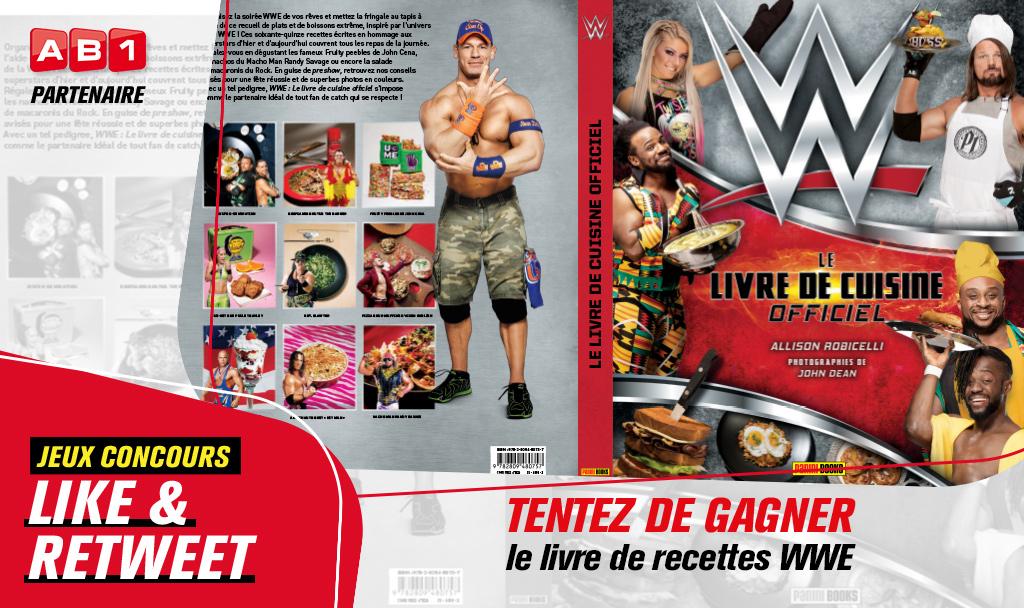 🎁 Les cadeaux continuent sur AB1 ! Qui veut gagner le livre de recette des superstars de la #WWE ? Pour participer : ❤️ Like 🔁 Retweet https://t.co/lGnzHPywPP