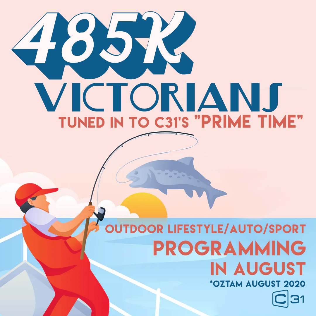 Through August 485,000 Victorians tuned in to #C31Melbourne's suite of prime-time outdoor lifestyle, motoring and sport programs.  C31 is and always has been a big home for the outdoors! https://t.co/c6ttfqJNLP