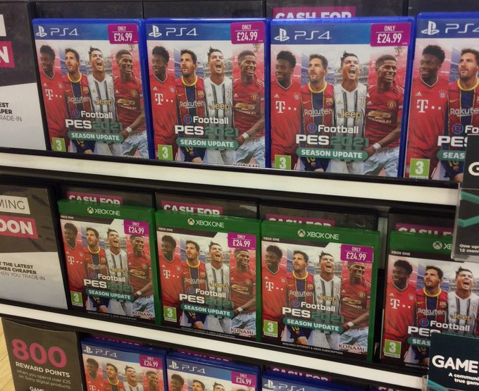 Out today #PES2021SeasonUpdate on Xbox and PS4  Trade in and save money when you pick up your copy today. Have any old consoles, phones or games? Don't let them collect dust trade in today for in store credit https://t.co/5euJyZNJyW