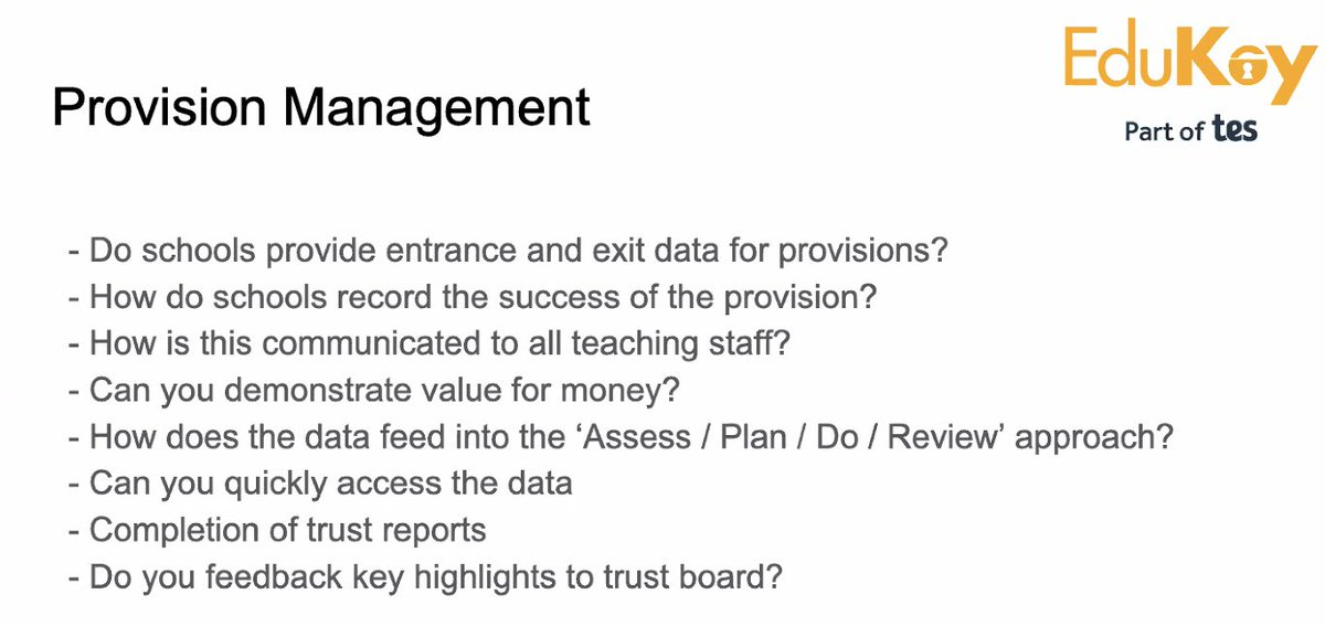 @simontanner_SEN @provisionmap #EdukeySEND Simon shares his strategies for provision management
