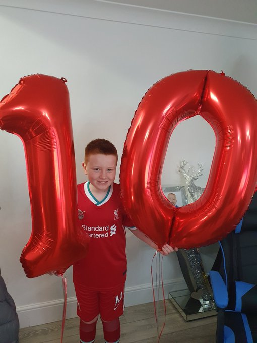 Happy 10th Birthday big boy ,can\t believe your double figures have a lovely day