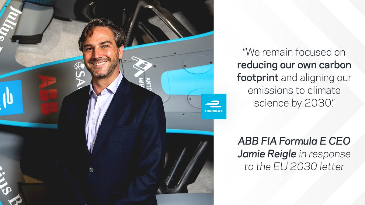 Formula E today signed the EU 2030 letter, which supports the UN's global Race to Zero campaign for a decarbonised economy that guards against future threats, creates quality employment opportunities and nurtures inclusive, sustainable growth 👉 https://t.co/Sp1j8YEHsl https://t.co/2W5Z73m1UG