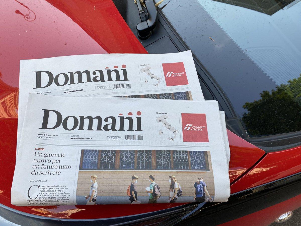 #domani: Perché è uscito oggi il primo numero del nuovo quotidiano edito da Carlo De Benedetti e diretto da Stefano Feltri https://t.co/ynXr6ApopR
