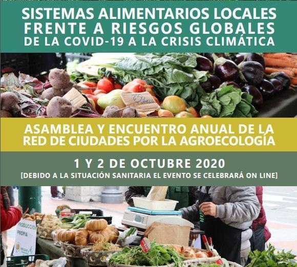 Asamblea y encuentro anual de la red de ciudades por la agroecología 🍂  1 y 2 de Octubre 2020 📆  Tienes toda la información en https://t.co/yfzi8JMzHU 📝  #AlimentandoCórdoba #SOSCampesinado #AlimentaciónEsSalud https://t.co/zE1jX85EFc