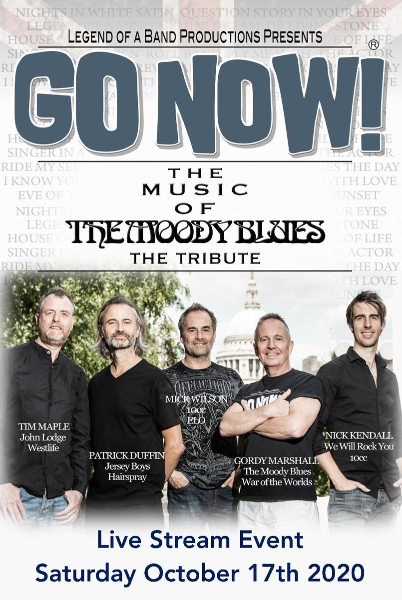 Don't miss this incredible LIVE STREAM EVENT. @GoNowMusic The Music of The Moody Blues - The Tribute performing their critically acclaimed full show.  To book your tickets to support theatres and venues including @StablesMK :- https://t.co/BLTgCXVBhx  #SaveOurVenues https://t.co/RUX96LlcSk