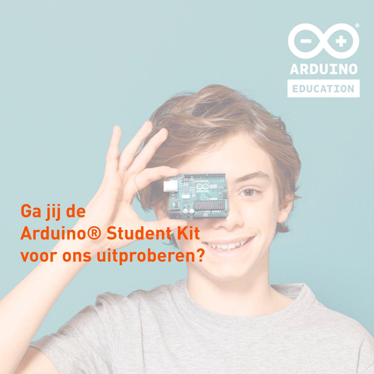 Gezocht! Enthousiaste docenten die de #Arduino Student Kit willen testen. Je hebt nog 5 dagen om je aan te melden.  Wij zijn benieuwd wat jullie ervan vinden. Meld je aan. https://t.co/tnIq7TDELK #arduino #arduinoeducation #thuisonderwijs #STEAM #programmeren #elektronica https://t.co/bpW1evndET
