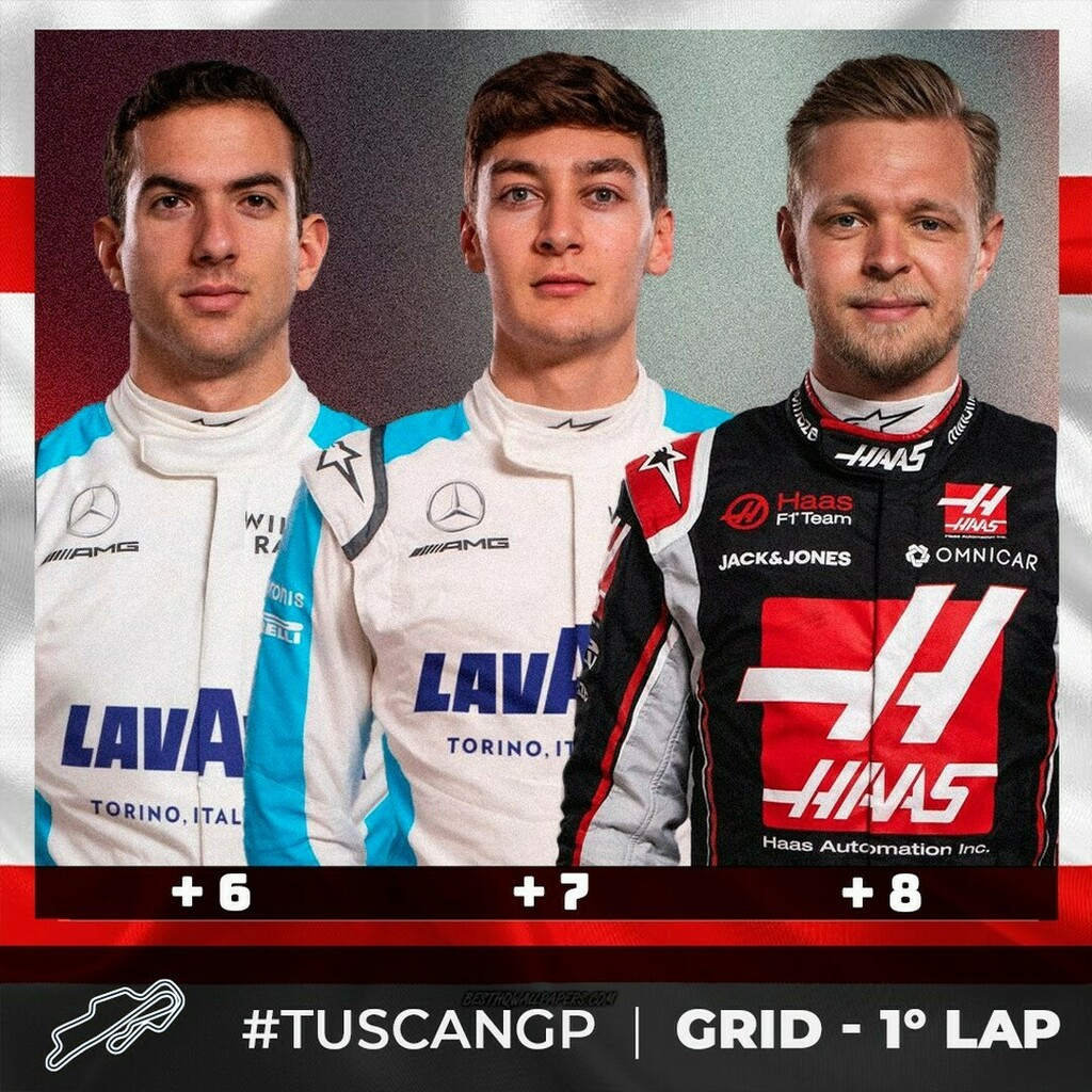 Top 3 position gained after the first lap #tuscangp🇮🇹 @mugellocircuit   @kevinmagnussen  @georgerussell63  @nicholaslatifi   @haasf1team #haas #haasf1team #haasf1 #kevinmagnussen #km20 #kmag  @williamsracing #williamsF1 #williamsracing #williamsf1team #W… https://t.co/3wPYFU5C7P https://t.co/re0emAxovy