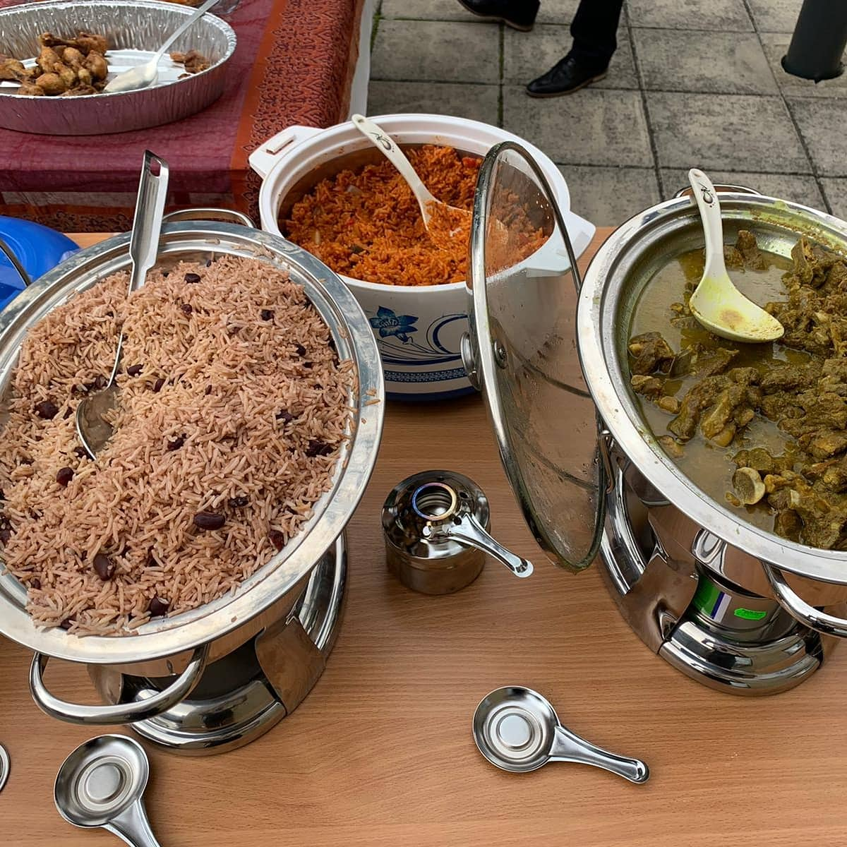 Summer bbq fun! Cast you votes... Jollof or Rice & peas? 🍚😋 #summerbbq #newham https://t.co/kIt8znKvJD