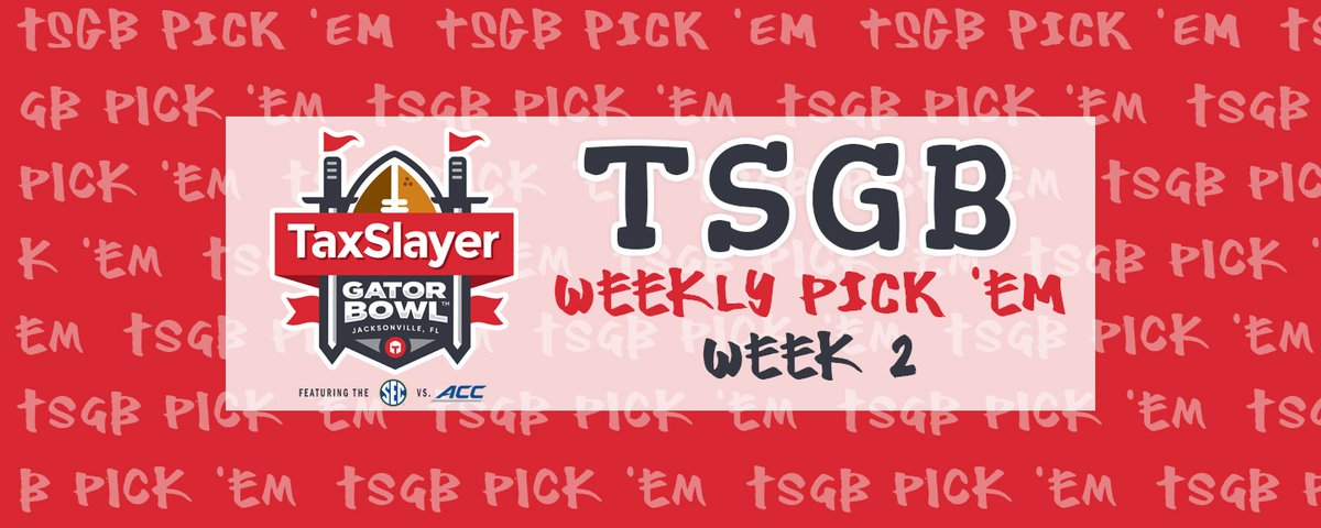 DON'T FORGET TO MAKE YOUR WEEK 2 PICKS