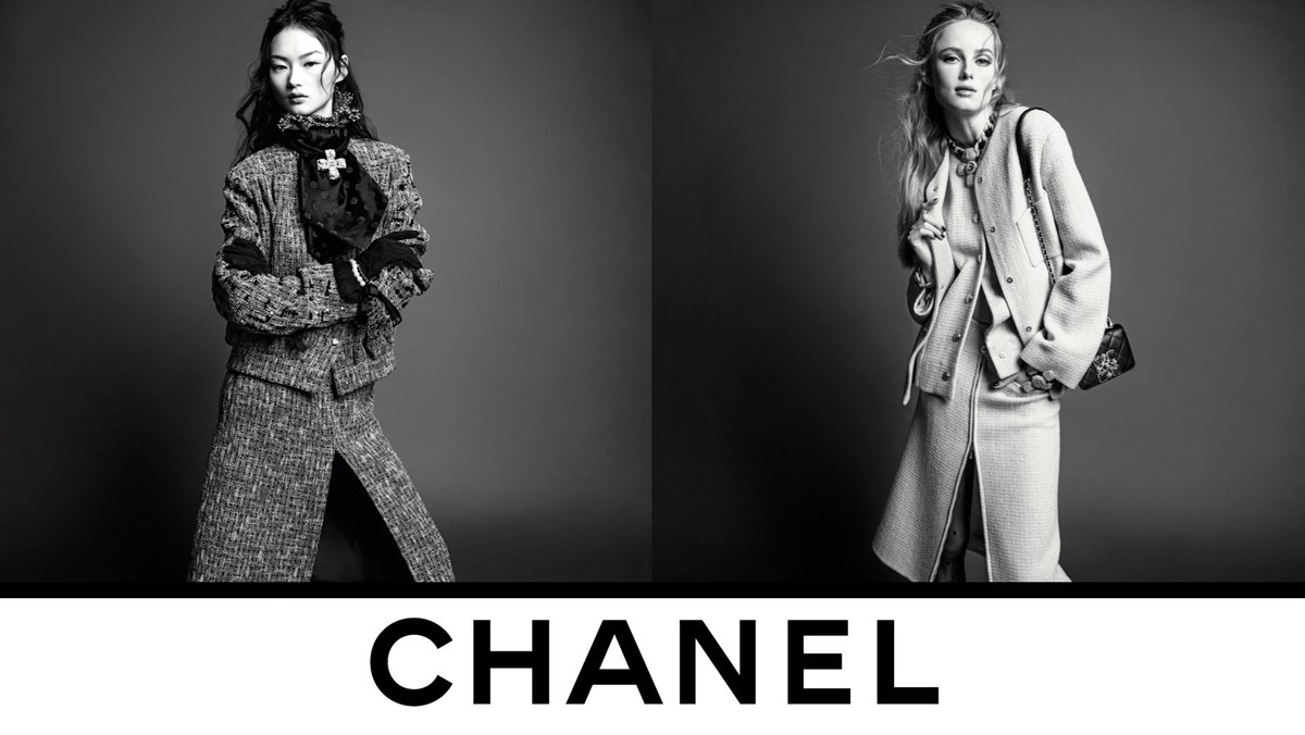 The CHANEL suit is revisited with pure lines drawing a sleek silhouette in the Fall-Winter 2020/21 Ready-to-Wear collection, now in boutiques. Photographed by Inez & Vinoodh. #CHANELFallWinter #CHANEL See more on https://t.co/fNjhIOCC6I https://t.co/8bamDB93MY