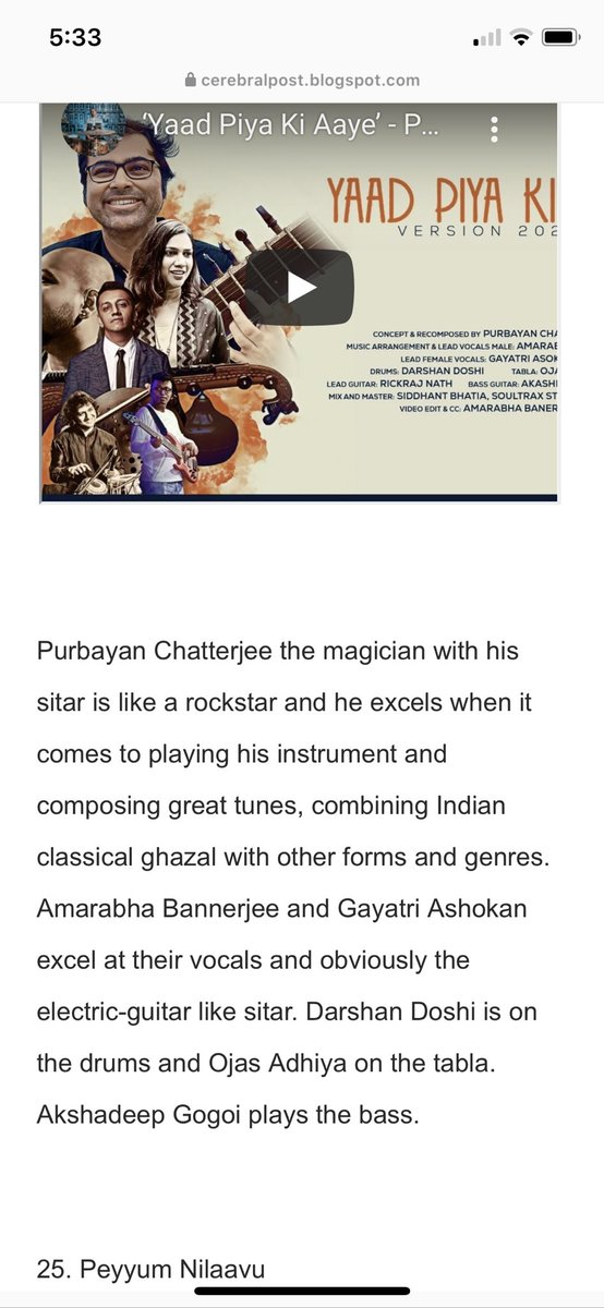 https://t.co/d18MtIssAL  Thanks for the wonderful review ! @stringstruck @amarabha_ #yaadpiyakiaaye. https://t.co/LTvU0rWIzJ