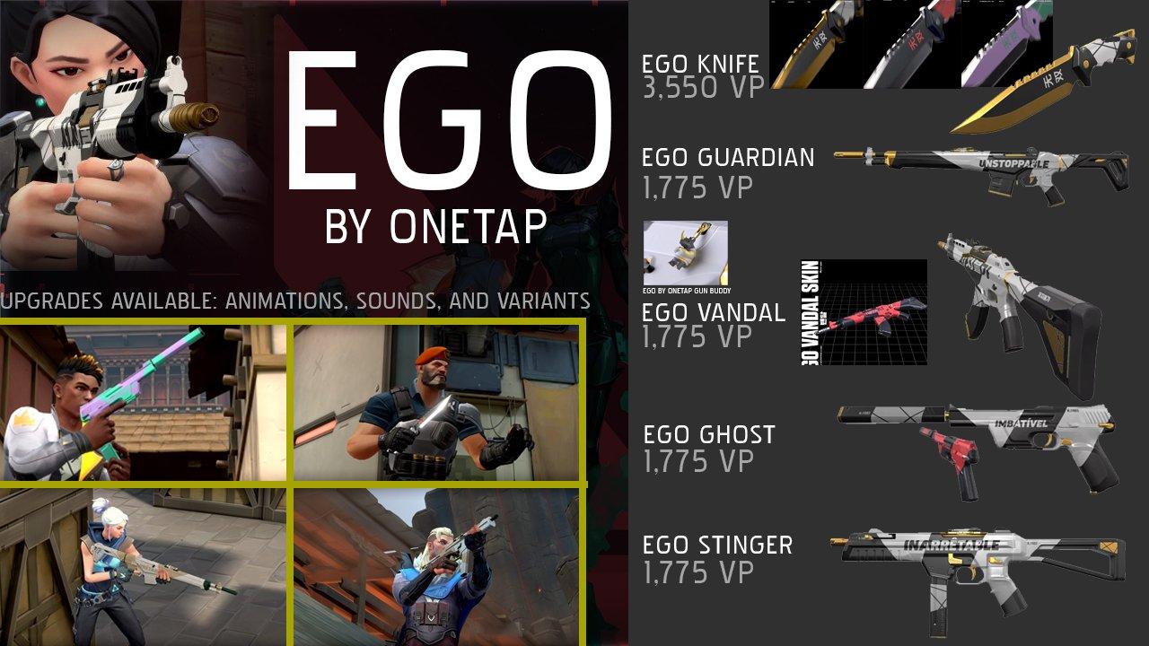 VALORANT EGO BY ONETAP skins