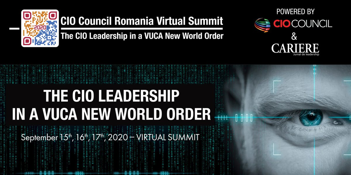 CERT-RO participă la Conferința CIO Council Romania Virtual Summit 2020 (15-17 septembrie).   Acest eveniment online dedicat tehnologiei este conceput ca un forum pentru idei inovatoare din domeniu, unul în care participanții se vor putea angaja în dezbateri cu https://t.co/ef1H4HqOfa