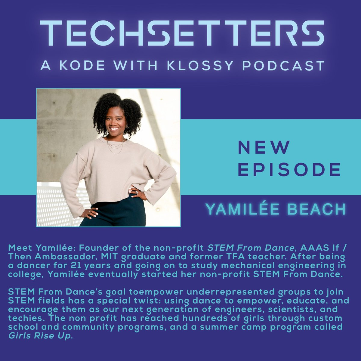 Today on Techsetters we hear from @stemfromdance Founder and AAAS / @IfThenSheCan Ambassador @yamileebeach. Using dance x STEM, Yamilée's goal is to increase representation of young women of color who set off to pursue a STEM education 💃👩💻 https://t.co/12uEAeGDEZ https://t.co/vEufBXnR8W