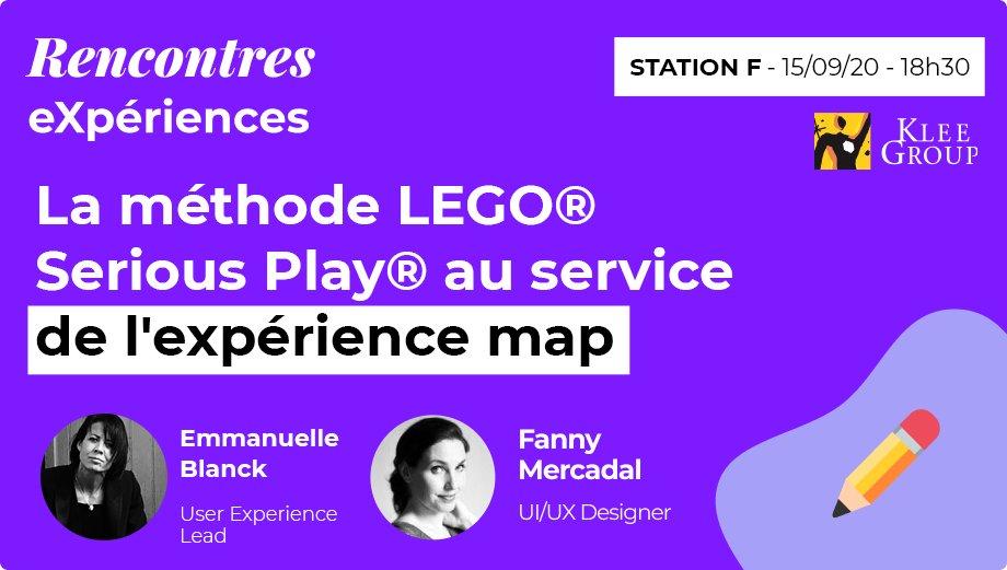 [#EVENT] Plus que 30 minutes ! ⏰ Retrouvez Fanny Mercadal et Emmanuelle Blanck autour de notre atelier #LegoSeriousPlay 💡 #RechercheUtilisateur #KleeDigitalXperiences ! 🤩 https://t.co/a80JDEVvce https://t.co/gGWDZ0lQqF