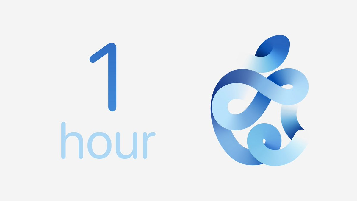Replying to @AppleEventTimer: One hour remaining until the Apple September Event finally starts! #AppleEvent