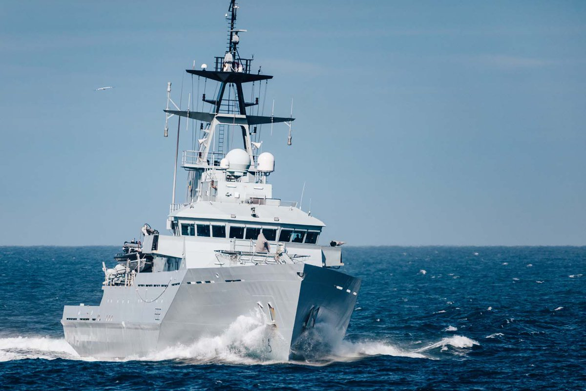 .@hmssevern has been testing her capabilities in the North Sea alongside @hms_mersey 📎 Find out more: ow.ly/dK3f50Br8Fn
