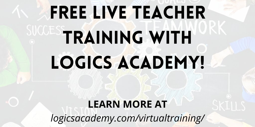 Calling all teachers! Check out our teacher training options for coding! They are perfect to help you prepare for in-person or virtual coding lessons, and will make coding fun to teach and learn this upcoming school year. #LogicsAcademy   Check it out:  https://t.co/zlKvL3Peqd https://t.co/jTrOARi8Kb