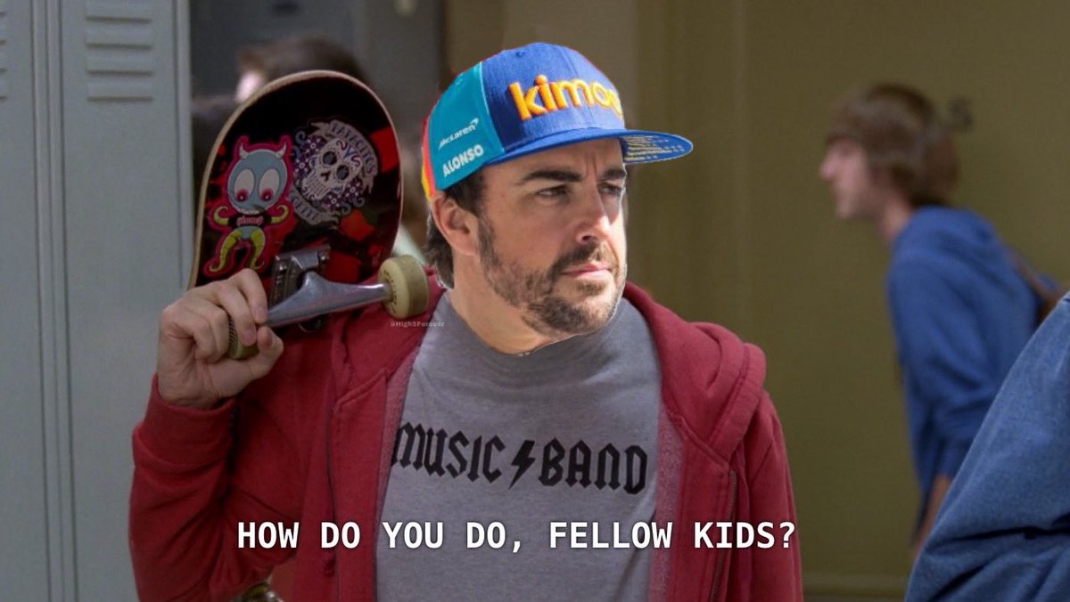 Renault are apparently in talks with the FIA to allow Fernando Alonso to drive for them in the end of season 'Young Driver' test. Erm.... 😂😂😂 #F1  📷 @High5Forever https://t.co/a0dUsiFPP7