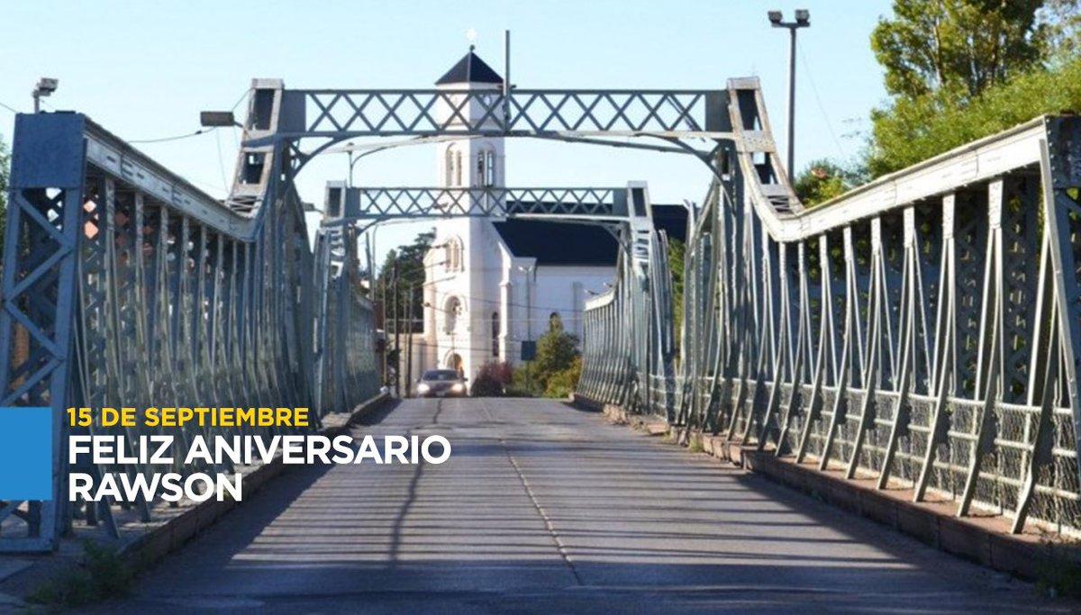 En su 155° aniversario saludo a todos los vecinos de #Rawson. Unidos y trabajando juntos seguiremos potenciando el #Desarrollo de nuestra querida capital de #Chubut. https://t.co/ifZtJ37bD9