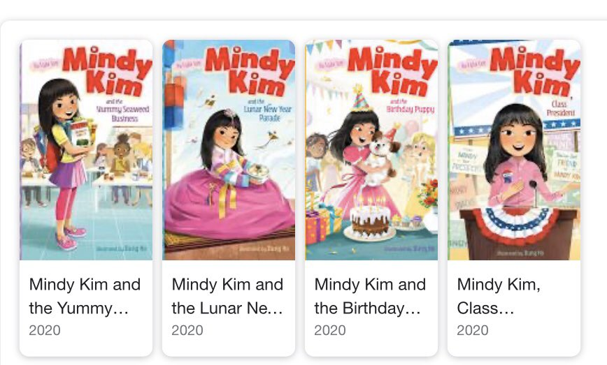The 4th Mindy Kim book, MINDY KIM, CLASS PRESIDENT is out today. 🥰 More Mindy Kim books will come out next year but for now...I did it, fam! I've written a whole series!🥺💕  You can get the books here:  https://t.co/7EwIiPuQkX https://t.co/Oy8tODIwwZ